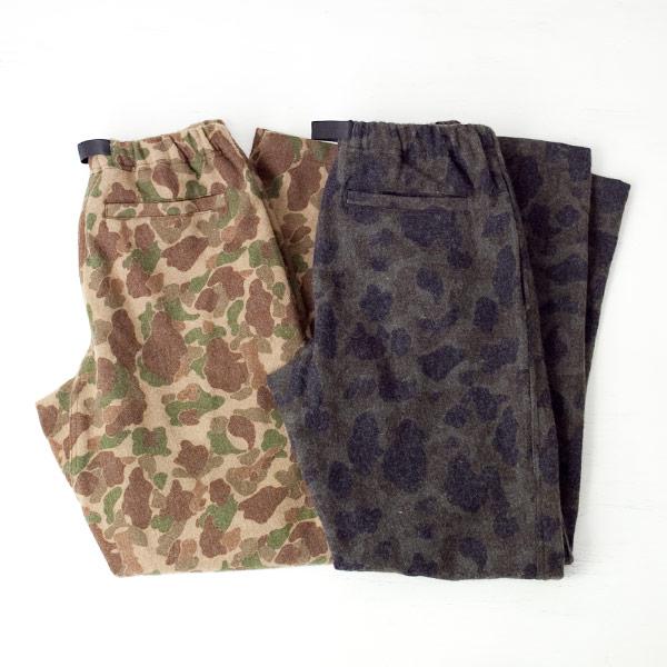 COOCHUCAMP クーチューキャンプ Happy long pants melton camo ハッピーロングパンツ メルトン カモ