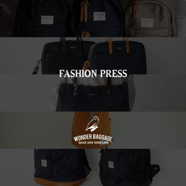 fashion press wonder baggage  ワンダーバゲージ