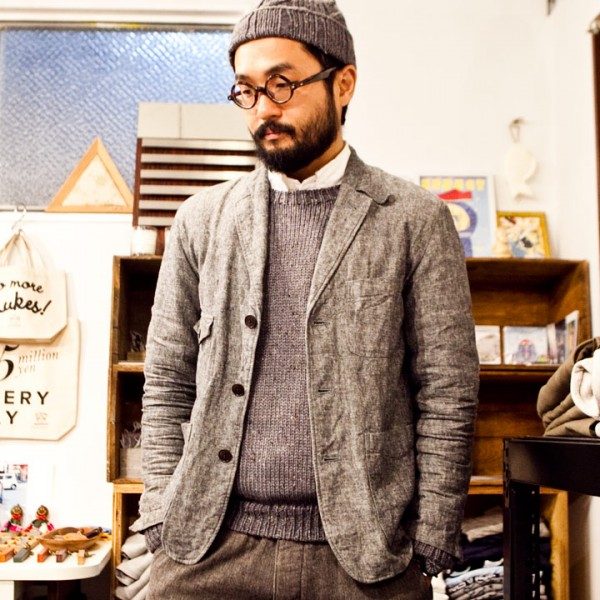・【MENS & LADIES】soglia ソリア / Merino tweed  kint sweater メリノ ツイード ニット セーター