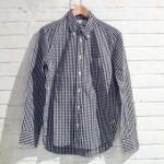 MANUAL ALPHABET マニュアル アルファベット ギンガムチェック・ボタンダウンシャツ ブラック
