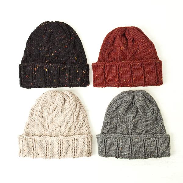 【Men's & Ladies'】soglia ソリア Merino tweed knit cap メリノ ツイード ニット キャップ
