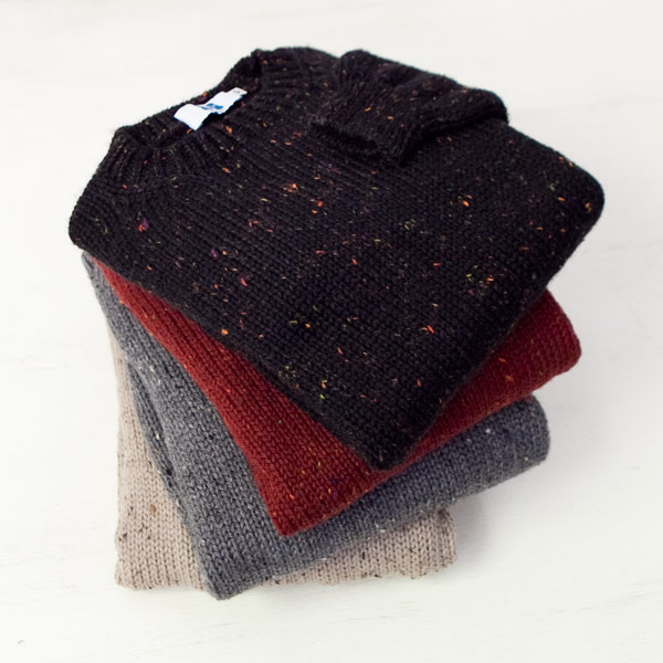 struct別注【mens&ladies】soglia ソリア Merino tweed knit sweater メリノ ツイード ニット セーター