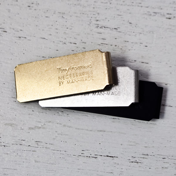 Tiny Formed【タイニー・フォームド】Tiny metal money clip マネー クリップ