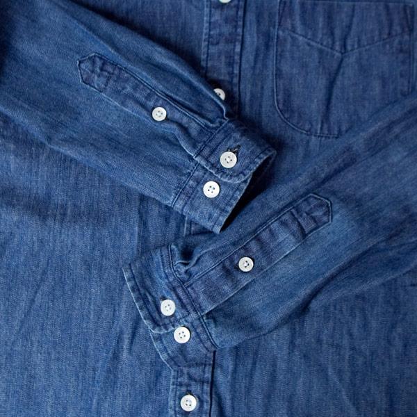 【Ladies'】Manual Alphabet マニュアル・アルファベット / 6oz denim bd shirt 6オンス デニム ボタンダウン シャツ