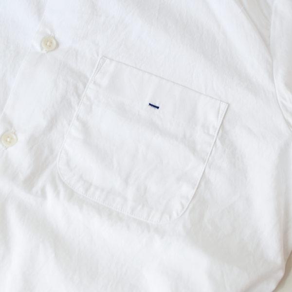 【Ladies'】Manual Alphabet マニュアル・アルファベット 100/2 broad basic shirt white ベーシックシャツ ホワイト