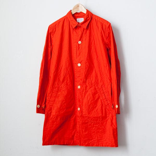 【Men's&Ladies'】Manual Alphabet マニュアル・アルファベット Typewriter shirt coat : orange タイプライターシャツコート オレンジ
