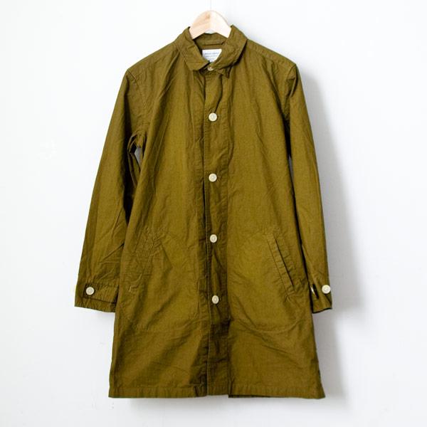 【Men's&Ladies'】Manual Alphabet マニュアル・アルファベット Typewriter shirt coat : moss green タイプライターシャツコート モスグリーン