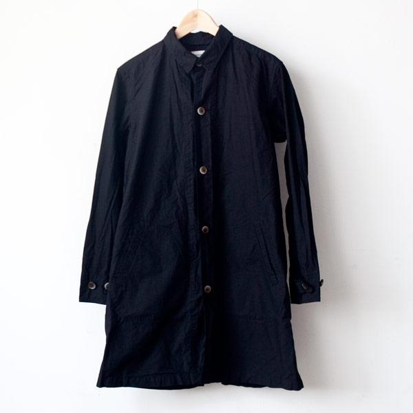 【Men's&Ladies'】Manual Alphabet マニュアル・アルファベット Typewriter shirt coat : black タイプライターシャツコート ブラック