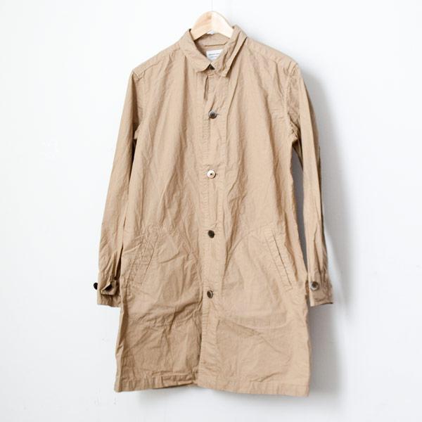【Men's&Ladies'】Manual Alphabet マニュアル・アルファベット Typewriter shirt coat : beige タイプライターシャツコート ベージュ