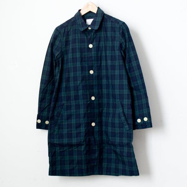 【Ladies'】Manual Alphabet マニュアル・アルファベット Typewriter shirt coat : tartan check タイプライターシャツコート タータンチェック
