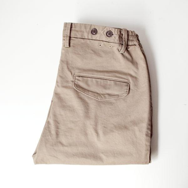 【Ladies'】ordinary fits オーディナリーフィッツ Tuck trouser strech chino : beige タックトラウザー ストレッチ チノ : ベージュ