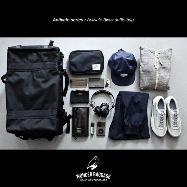 WONDER BAGGAGE ワンダーバゲージ Activate duffle bag アクティベート ダッフル バッグ