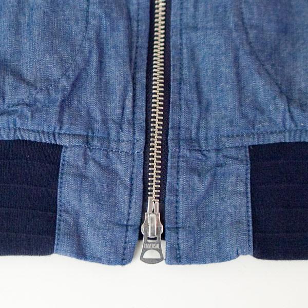 Manual Alphabet マニュアル・アルファベット Indigo Chambray bomber jacket インディゴ シャンブレー ボンバー ジャケット