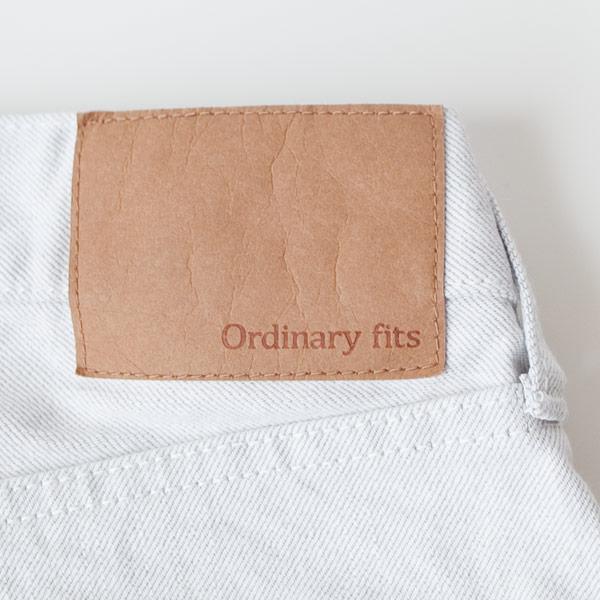 【Men's&Ladies'】ordinary fits オーディナリーフィッツ Denim cropped pants : white デニム クロップド パンツ ホワイト