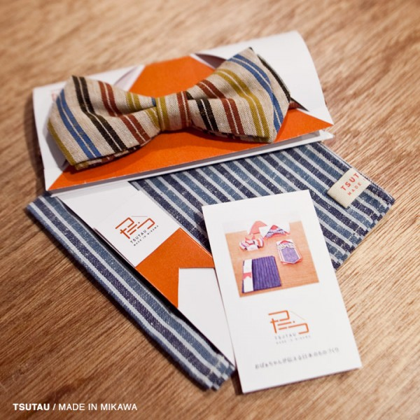 tsutau つたう / Mikawa cotton item 三河木綿で作ったアイテム