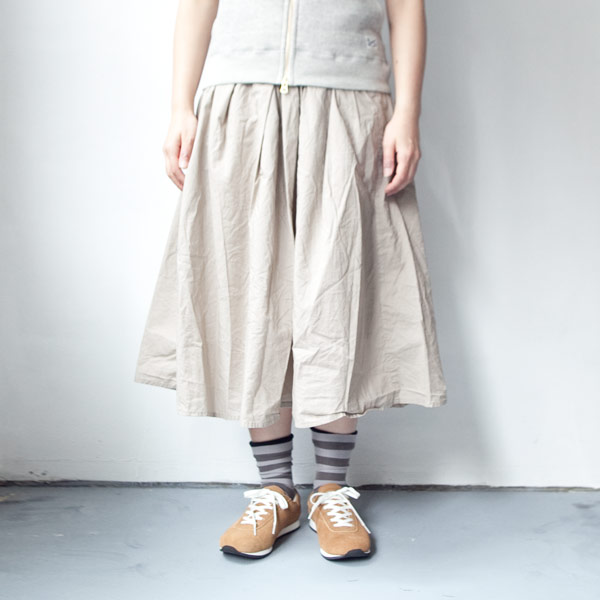 【Ladies'】Manual Alphabet マニュアル・アルファベット 60 lawn tuck skirt : moca 60ローン タック スカート:モカ