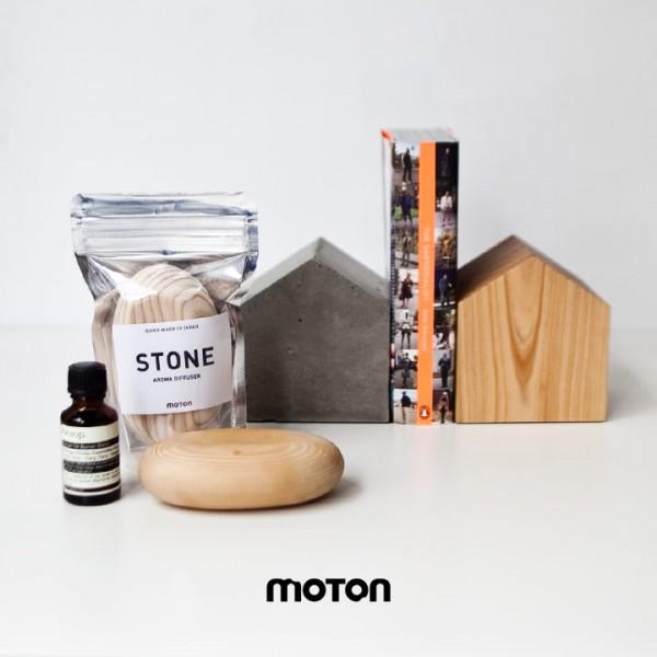 moton モトン アロマ ディフューザー 木 ブックエンド