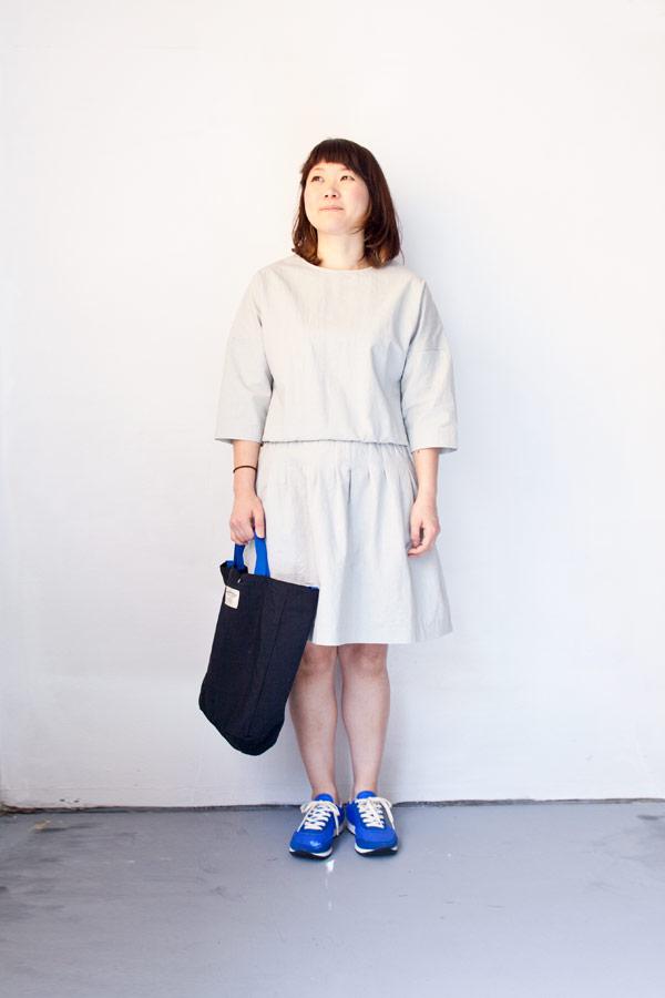RYU リュー / Cotton linen weather darts dress : water コットン リネン ウェザー ダーツ ドレス ウォーター