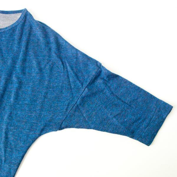 RYU リュー / Linen grandrelle darts dress : navy リネン 杢 ダーツ ドレス ネイビー