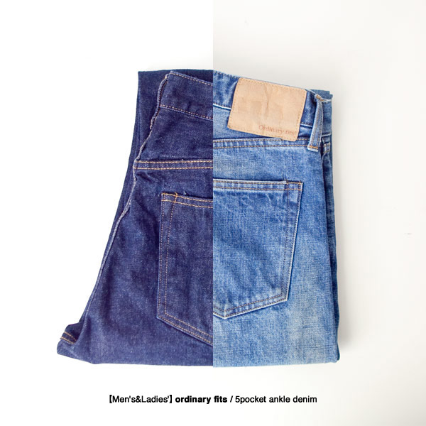 【Men's&Ladies'】ordinary fits / 5pocket ankle denim