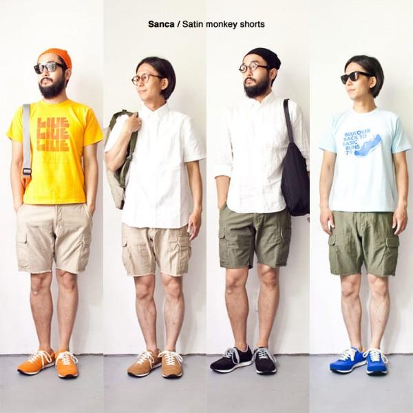 Sanca サンカ / Satin monkey shorts サテン モンキー ショーツ
