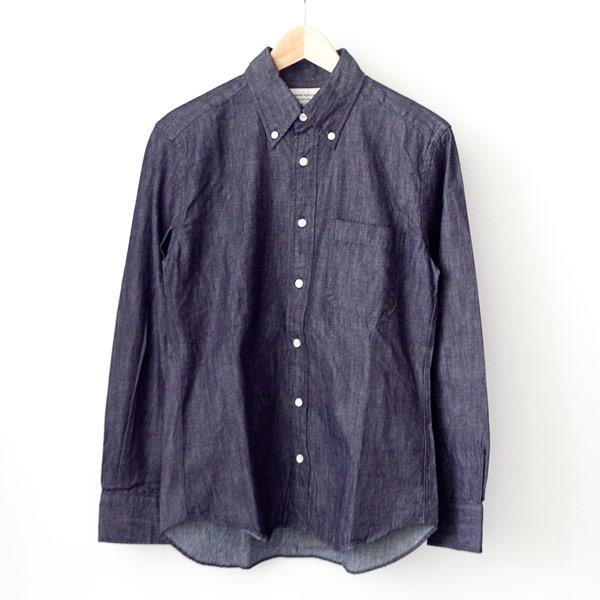 Manual Alphabet マニュアル アルファベット 6oz denim bd shirt : one wash デニム ボタンダウン シャツ ワンウォッシュ
