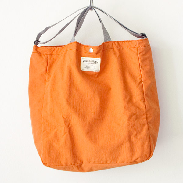 WONDER BAGGAGE ワンダーバゲージ Relax tote 2 : orange × gray リラックス トート 2 オレンジ グレー