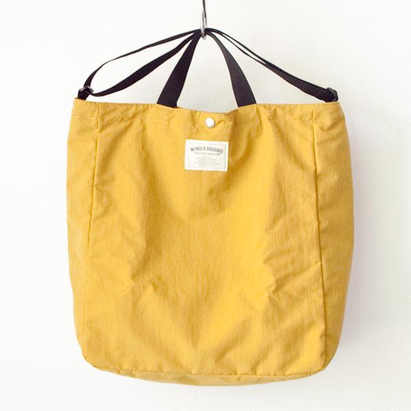 WONDER BAGGAGE ワンダーバゲージ Relax tote 2 : mustard x black リラックス トート 2 マスタード ブラック