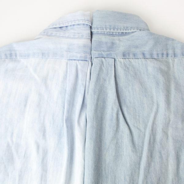Manual Alphabet マニュアル アルファベット 6oz denim bd shirt : blue デニム ボタンダウン シャツ ライト ブルー