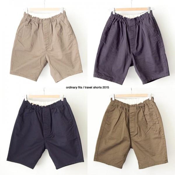 ordinary fits オーディナリーフィッツ Travel shorts トラベルショーツ