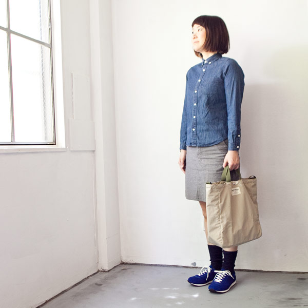 WONDER BAGGAGE ワンダーバゲージ Relax tote 2 : beige × forest リラックス トート 2 ベージュ フォレスト