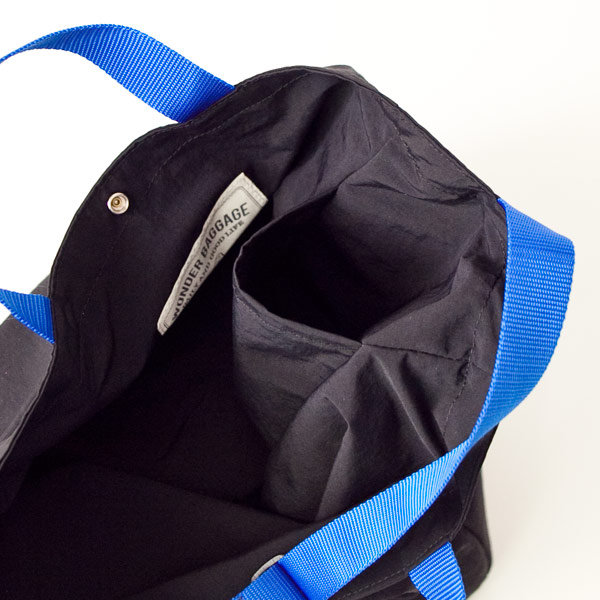 WONDER BAGGAGE ワンダーバゲージ Relax tote 2 : black × blue リラックス トート 2 ブラック ブルー