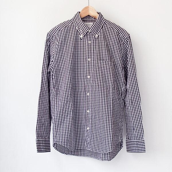 Manual Alphabet マニュアル アルファベット Gingham bd shirt : black ギンガムチェック・ボタンダウンシャツ・ブラック