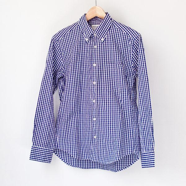 Manual Alphabet マニュアル アルファベット Gingham bd shirt : navy ギンガムチェック・ボタンダウンシャツ・ネイビー