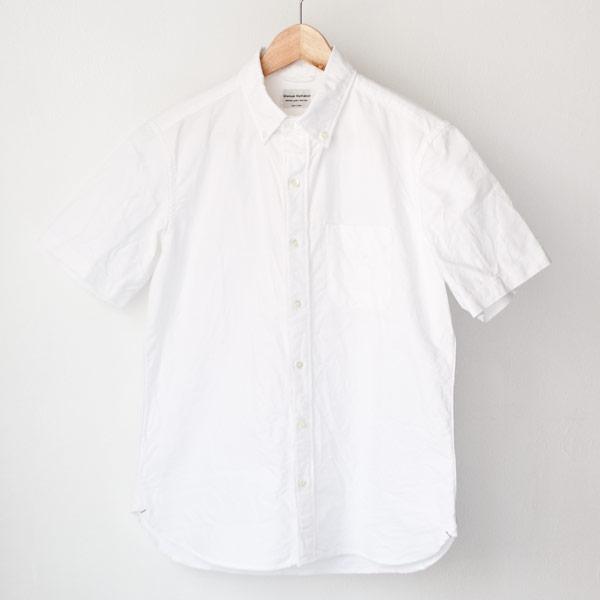 Manual Alphabet マニュアル・アルファベット / American ox ss bd shirt : white アメリカン オックスフォード 半袖 ボタンダウン シャツ ホワイト