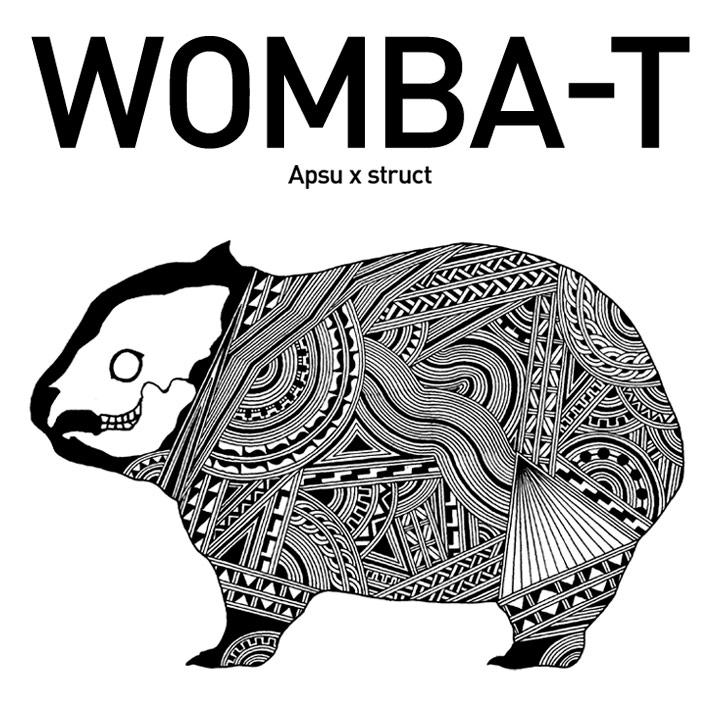 【受注生産】Apsu アプスー x struct ストラクト / WOMBA-T ウォンバットTシャツ