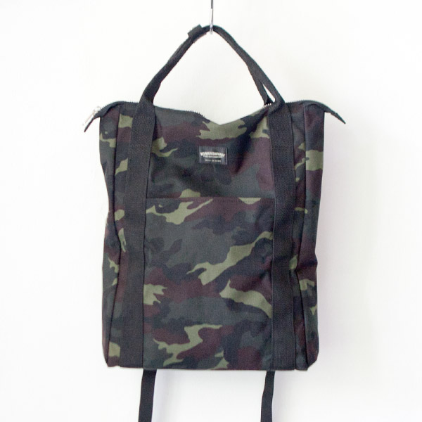 WONDER BAGGAGE ワンダーバゲージ Relax sack tote camouflage リラックス ザック トート カモ