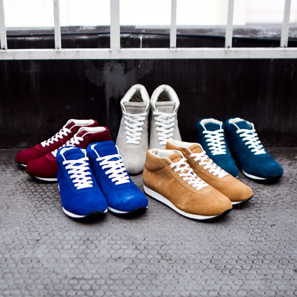 【blueover / 15AW】Mikey mid : velor suede  ブルーオーバー / マイキーミッド ベロアスエード
