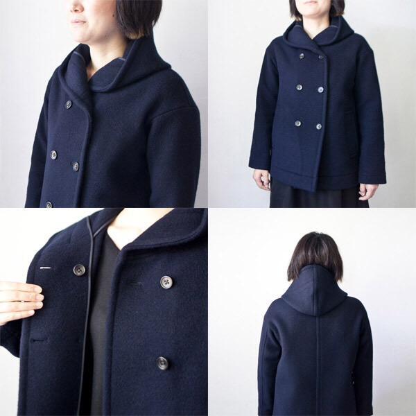 Nicholson and Nicholson / Blanket coat : navy  ニコルソン・アンド・ニコルソン / ブランケット コート