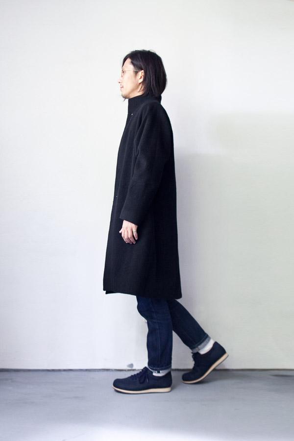 suzuki takayuki スズキ タカユキ 2015 AW  Stand fall collar coat スタンドフォールカラーコート