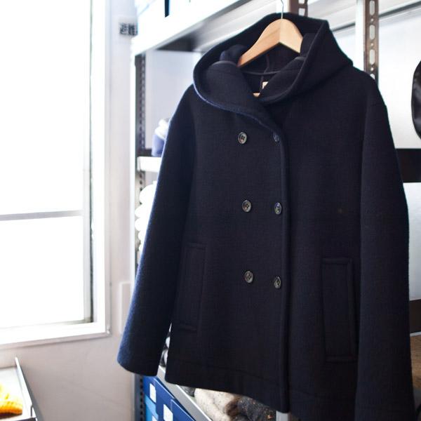 【Ladies'】Nicholson and Nicholson ニコルソンアンドニコルソン Blanket coat : navy ブランケットコート : ネイビー