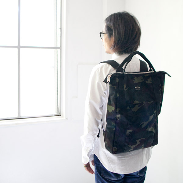 WONDER BAGGAGE / ワンダーバゲージ  Relax sack tote camouflage リラックス ザック トート カモ