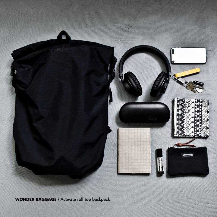WONDER BAGGAGE ワンダーバゲージ Activate roll top backpack アクティベート ロールトップ バックパック