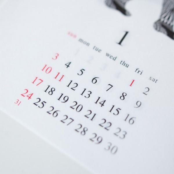 Apsu アプスー x struct ストラクト Calendar カレンダー 2016 : 1月始まり
