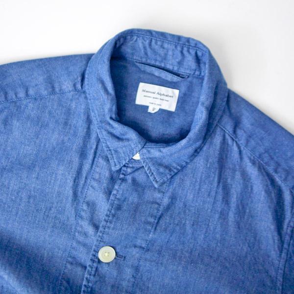 Manual Alphabet マニュアルアルファベット  denim shirt coat デニムシャツコート