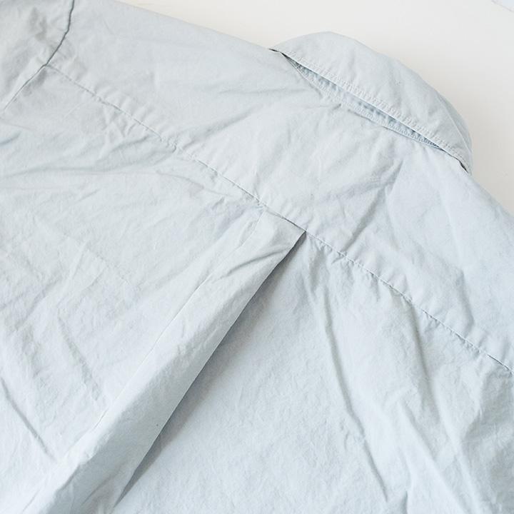 Manual Alphabet マニュアル アルファベット Piece dyed big shirts : grey 製品染め ビッグ シャツ グレイ