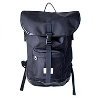WONDER BAGGAGE ワンダーバゲージ Backpack : black バックパック : ブラック
