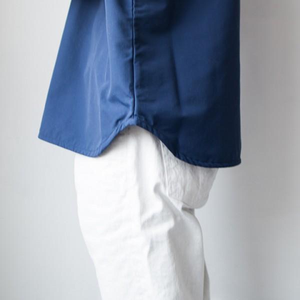 Manual Alphabet / マニュアルアルファベット  Nylon rip-stop shirt : navy  ナイロンリップ・ストップ・シャツ