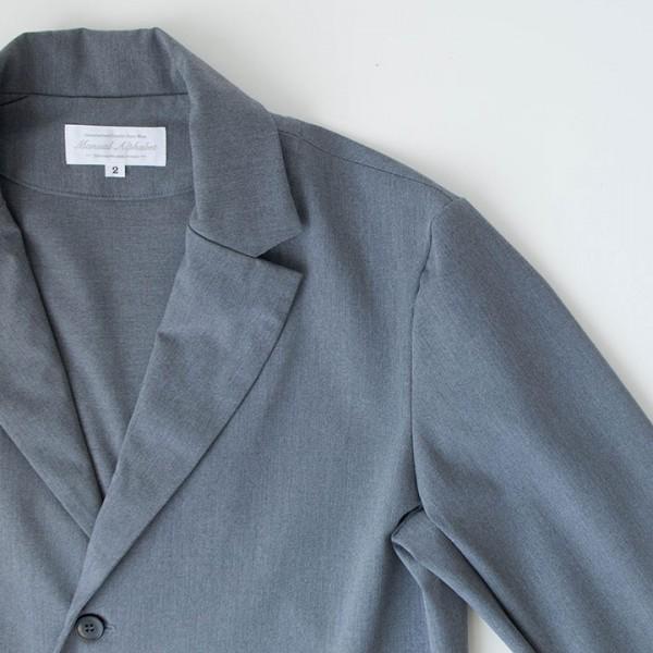 Manual Alphabet マニュアル アルファベット Silo twill 2way stretch jacket : grey サイロ ツイル ストレッチ ジャケット グレー