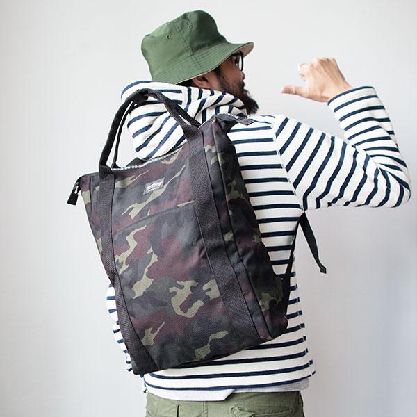 【restock】WONDER BAGGAGE ワンダーバゲージ  Relax sack tote リラックスザックトート  camouflage カモフラージュ